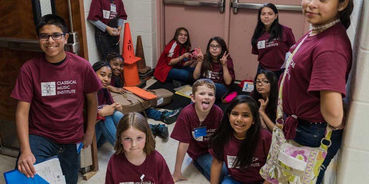 CMI students in hallway